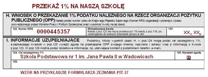 Przykład uzupełnienia formularza zeznania PIT-37